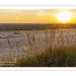Crépuscule sur la plage du Crotoy un soir d'été