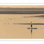 Paddle dans le chenal de la Somme au Cap Hornu (Saint-Valery)