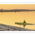 Kayak dans le chenal de la Somme au Cap Hornu (Saint-Valery)