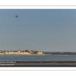 Mongolfières survolant le Crotoy en Baie de Somme