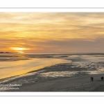 Crépuscule sur la baie de Somme depuis le point de vue des Tourelles au Crotoy.