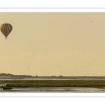 Mongolfières survolant le Hourdel en Baie de Somme