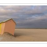 Les cabines de plage à Berck-sur-mer en fin de saison.