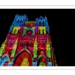 """Spectacle son et lumière """"Chroma"""" sur la cathédrale d'Amiens"""