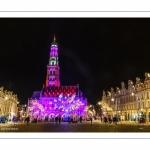 Illuminations de noël sur la place des Héros à Arras