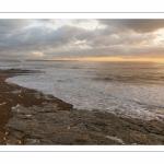 Crépuscule et coucher de soleil à Ambleteuse sur la côte d'Opale