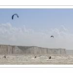 La plage de Ault et le kitesurf