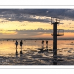Soleil couchant sur la plage de Ault