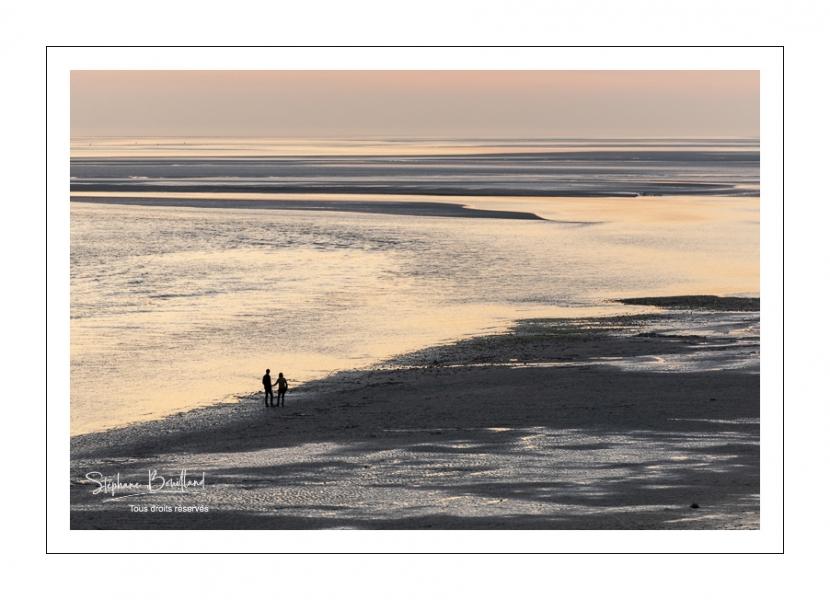 Crépuscule depuis le panorama sur la baie de Somme au Crotoy