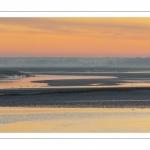 Aube sur la baie de Somme depuis les quais de Saint-Valery