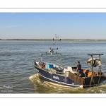bateau de pêche quittant le port du Hourdel