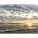 Le plage du Crotoy un soir de printemps