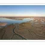 Vue aérienne de la baie d'Authie