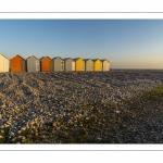 Les cabines de plages à Cayeux sur mer