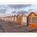 Les cabines de plage au couchant