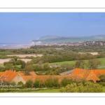 Le panorama sur la Baie de Wissant depuis l'église de Tardinghen