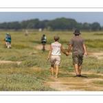 Promeneurs au Cap hornu en Baie de Somme