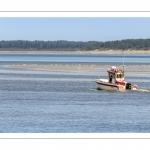 Pêcheurs dans le chenal de la Somme, depuis le Cap hornu face au Crotoy