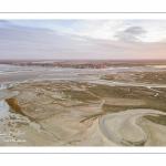 Les mollières de la baie de Somme entre le Crotoy et Saint-Valery (vue aérienne)