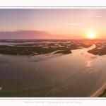 Saison : été - Lieu : Cap Hornu, Saint-Valery-sur-Somme, Baie de Somme, Somme, Hauts-de-France, France. Panorama par assemblage d'images 6571 x 3286 px