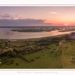 Saison : été - Lieu : Cap Hornu, Saint-Valery-sur-Somme, Baie de Somme, Somme, Hauts-de-France, France. Panorama par assemblage d'images 6290 x 3145 px
