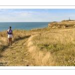 France, Pas-de-Calais (62), Côte d'Opale, Grand Site des deux caps, Cran-aux-Oeufs, Le sentier des Crans, La côte en direction du cap Gris-Nez  depuis le Cran-aux-Oeufs // France, Pas-de-Calais (62), Côte d'Opale, Grand Site des deux caps, Cran-aux-Oeufs, Le sentier des Crans, The coast towards Cap Gris-Nez from Cran-aux-Oeufs