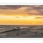 Coucher de soleil sur la baie de Somme