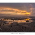 Saison : hiver - Lieu : Le Crotoy, Baie de Somme, Somme, Picardie, France. Panoramique par assemblage d'images : 11805 x 5903 pixels.