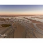 Le Crotoy et la Baie de Somme, vue aérienne au soleil levant