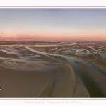 Saison : été - Lieu : Le Crotoy, Baie de Somme, Somme, Hauts-de-France, France. Panorama par assemblage d'images 6776 x 3388 px