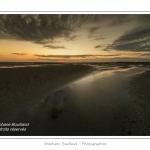 Crépuscule sur la plage du Crotoy en Baie de Somme - saison : été - Lieu : Le Crotoy, Baie de Somme, Somme, Picardie, France.
