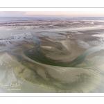 Survol de la baie de Somme au niveau de La Mollière d'Aval