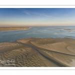 La baie de Somme au petit matin (vue aérienne)