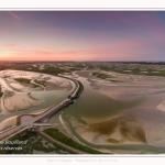 Saison : été - Lieu : Le Crotoy, Baie de Somme, Somme, Hauts-de-France, France. Panoramique par assemblage d'images 5882 x 3922 px