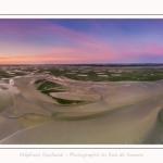 Saison : été - Lieu : Le Crotoy, Baie de Somme, Somme, Hauts-de-France, France. Panoramique par assemblage d'images 11609 x 3870 px