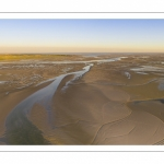 La baie de Somme à marée basse (Vue aérienne)