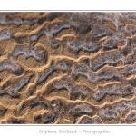 En se retirant, la mer laisse des plaques de glace qui dessinent des motifs sur le sable. Février 2012 : vague de froid intense sur la France. Toute la Baie de Somme est gelée. Saison : Hiver, Lieu : Le Crotoy, Baie de Somme, Somme, Picardie,France, Côte Picarde