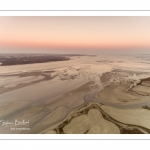 vue aérienne de la baie de somme depuis le Cap Hornu près de Saint-Valery