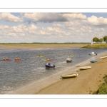 Kayak qui descendent le chenal de la Somme