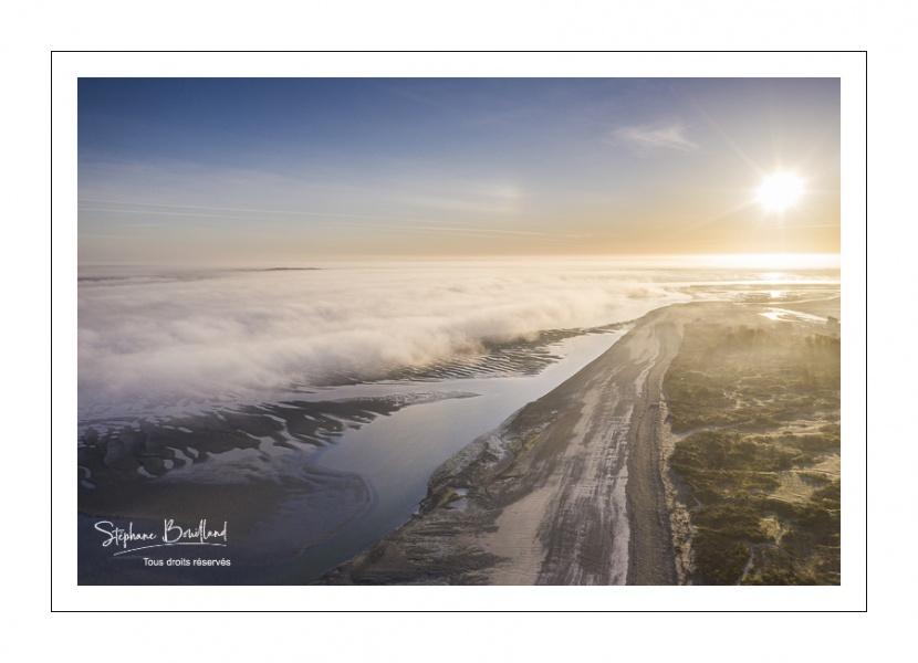 Mer de nuages sur la baie de Somme