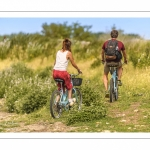 couple de cyclistes en baie de Somme