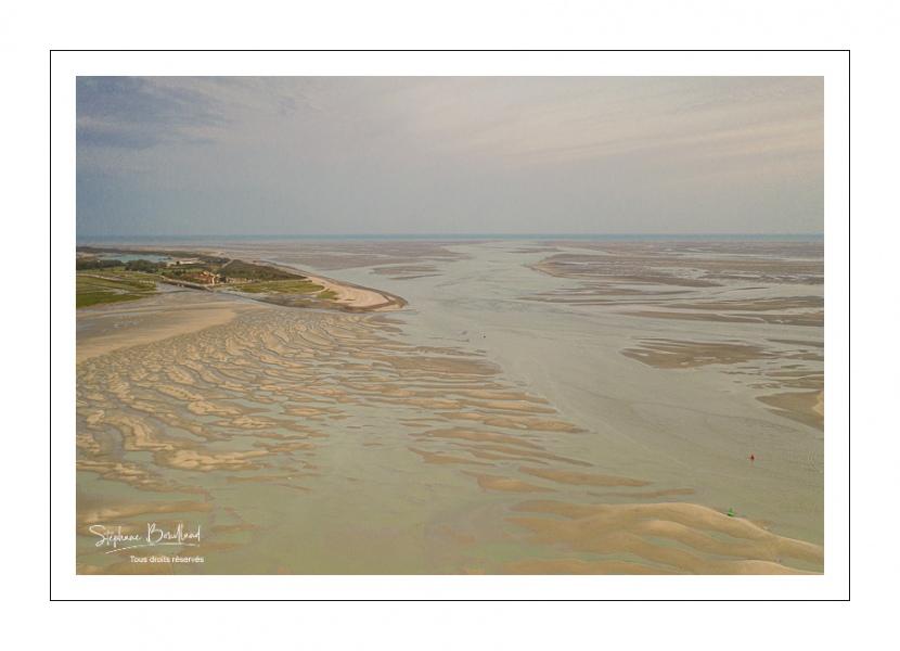 Aube sur la baie de Somme à Marée basse