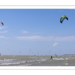 Kitesurf en baie de Somme au Crotoy