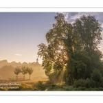 La vallée de la Somme à Long, au petit matin.