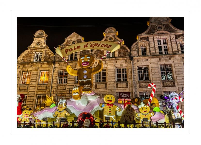 Arras, le marché de noël sur la Grand'Place