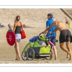 Vacanciers sur la plage de Quend-Plage