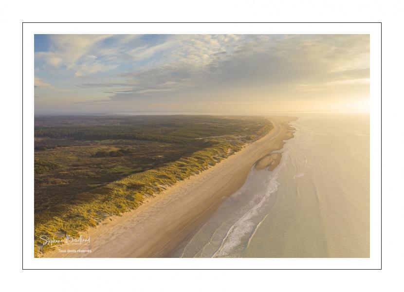 Les dunes de Quend-Plage (vue aérienne)