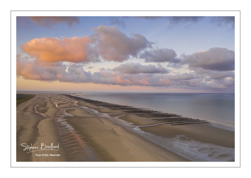 La plage à Quend-Plage (vue aérienne)