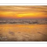 Coucher de soleil sur la plage de Quend