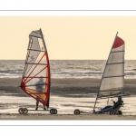 Chars-à-voile et Speedsail sur la plage